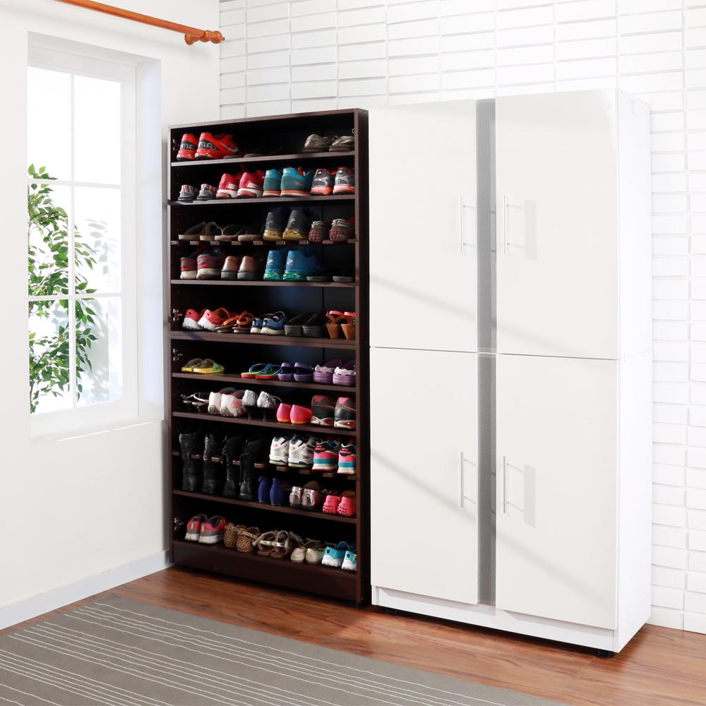 BuyJM加深型鏡面可調整四門鞋櫃(2色可選)