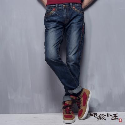 地藏小王-BLUE-WAY-月燈鯉魚低腰直筒褲