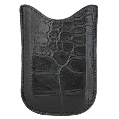 【GIORGIO FEDON 1919】手機直套式 鱷魚皮壓紋-黑色
