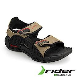 RIDER 巴西-童 TENDER IX 運動涼鞋 黑米灰