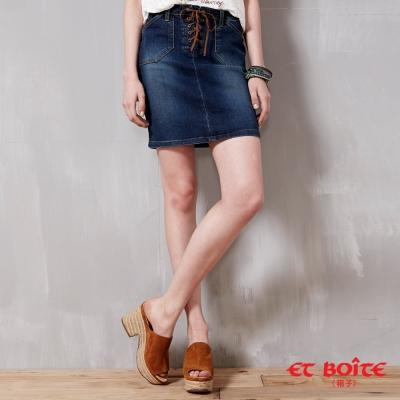 ETBOITE 箱子 BLUE WAY 低腰皮繩短裙