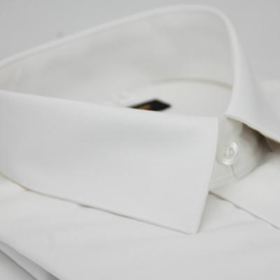 金‧安德森 白色舒適長袖襯衫
