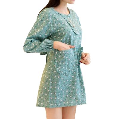 成人鈕扣長袖圍裙(NT-UM03)