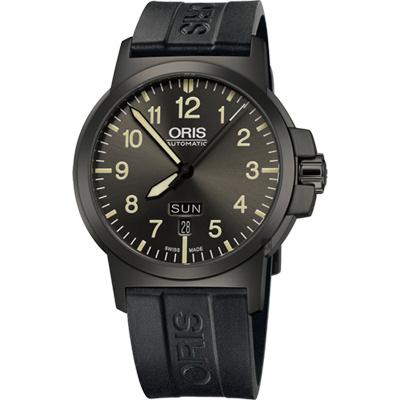 Oris豪利時 BC3 Advanced 日曆星期機械腕錶-鐵灰x黑/42mm