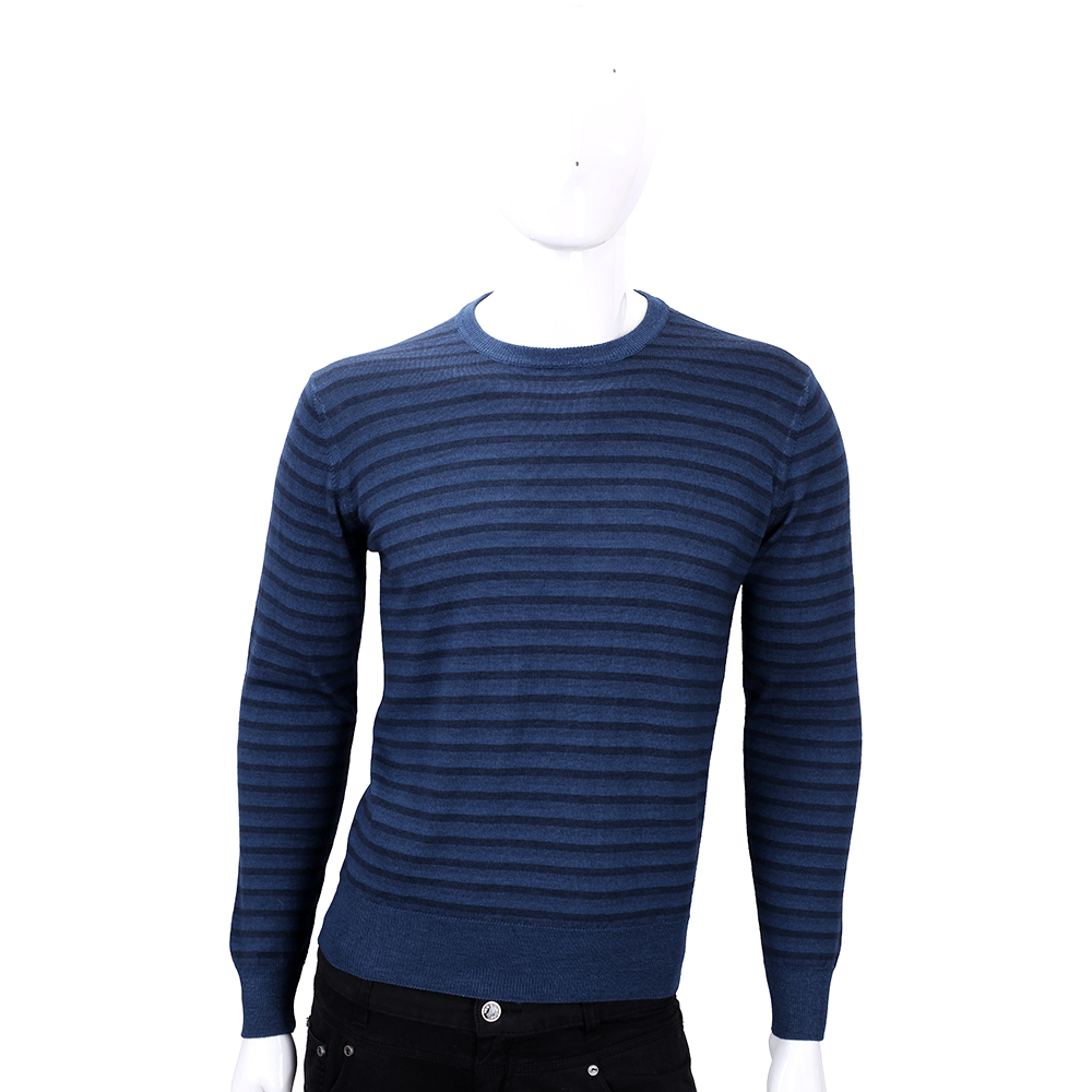 FRADI  藍色條紋針織羊毛上衣