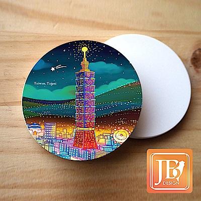 JB Design_就是愛台灣杯墊圓磁鐵-160_台北夜晚