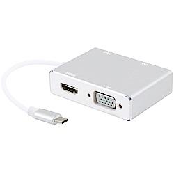 伽利略 TypeC HDMI (4K2K)+VGA+DVI+USB2.0