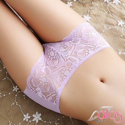 平口內褲 親膚蕾絲無痕女性內褲 (紫色) alas