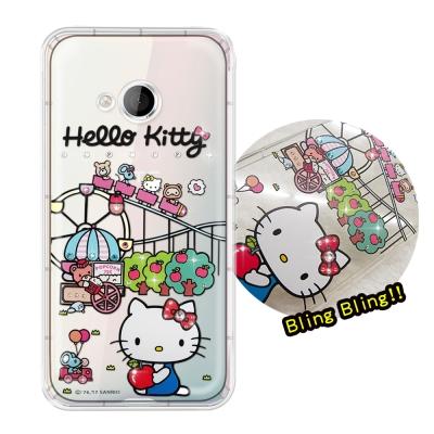 正版凱蒂貓 HTC U Play 5.2吋 夢幻童話 彩鑽氣墊手機殼(遊樂園)