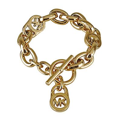 MK Michael Kors 氣質經典LOGO穿式手鏈(金色)