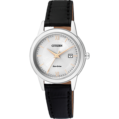 CITIZEN Eco-Drive光動能城市女錶(FE1086-12A)-銀/29mm