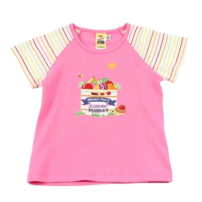 愛的世界 MYBABY 圓領水果百匯拚接短袖T恤/2~4歲