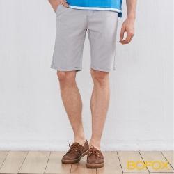 BOFOX 直條紋休閒短褲-淺灰