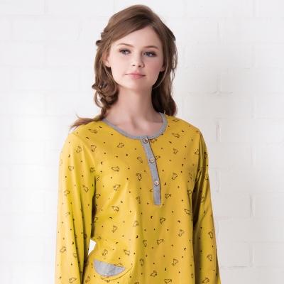 羅絲美睡衣 - 童話人生長袖褲裝睡衣(俏麗黃)