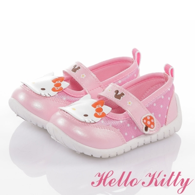 HelloKitty 森林系列 輕量透氣減壓抗菌防臭娃娃童鞋 粉