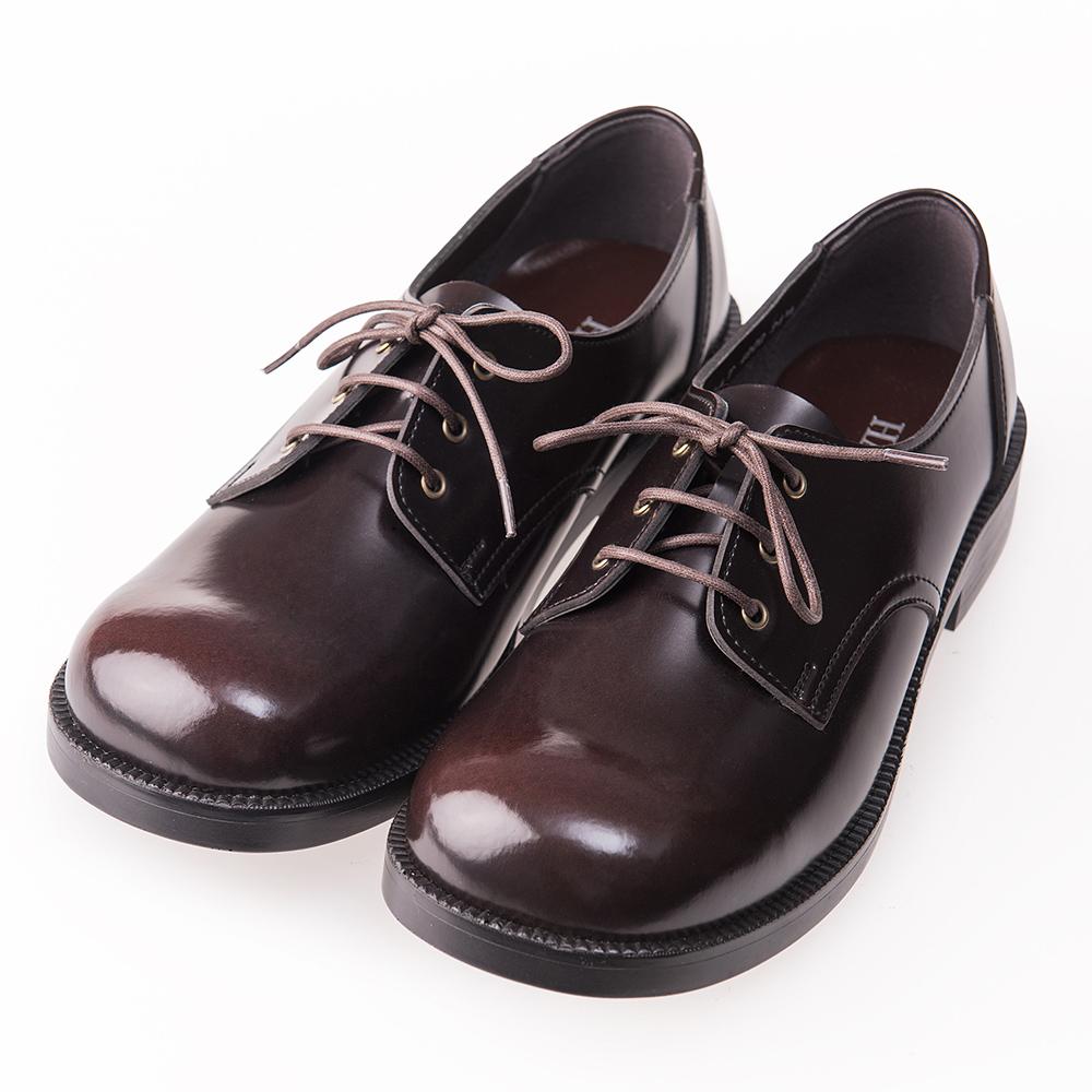 (女)日本 HARUTA 3孔綁帶學生鞋4902-咖啡色
