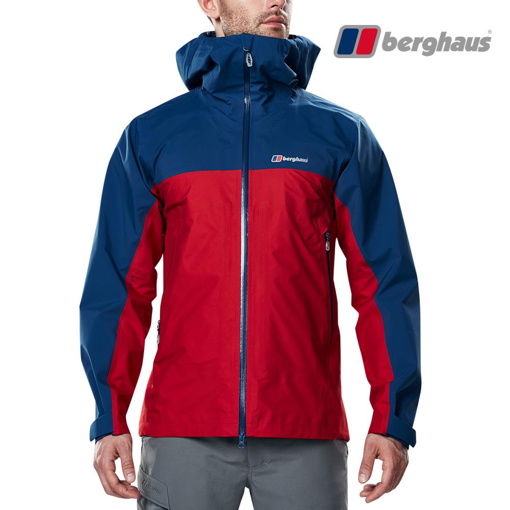 【Berghaus貝豪斯】男款GORE-TEX防水透氣外套H22M48-紅