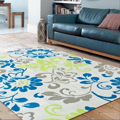 Ambience- Iris 超細纖維長毛地毯 -彩漾花卉(150x220cm)