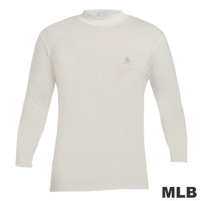 MLB-高領熱力棉T恤-白(男)