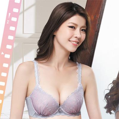 莎薇-絢麗粉水2UP系列B-D罩杯內衣-珍珠灰
