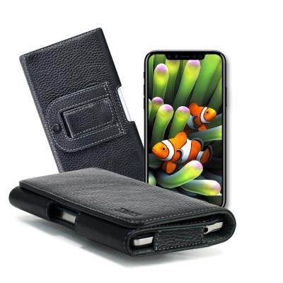XM Apple iPhone X 5.8吋 / 8 Plus 5.5吋 麗緻真皮腰掛皮套