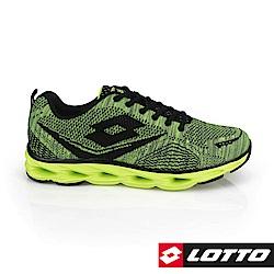 LOTTO 義大利 男  疾風編織跑鞋(綠)