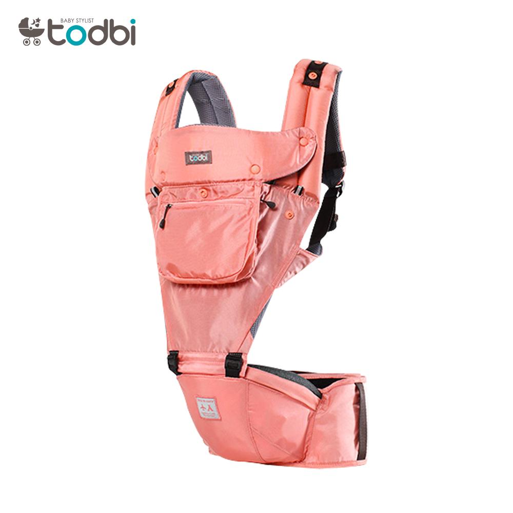 【麗嬰房】TODBI AIR MOTION時尚氣囊款坐墊式背巾(印第安粉)