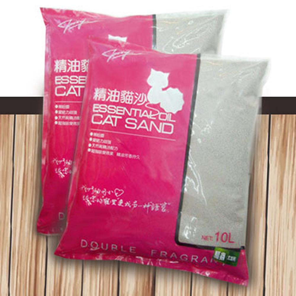 嚴選ECS無粉塵天然海洋玫瑰精油貓砂 10L x 3包