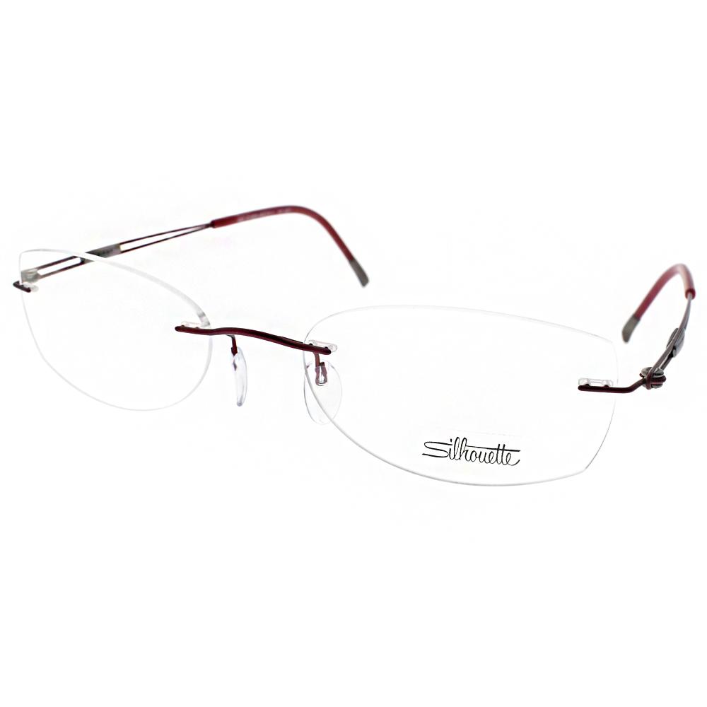 Silhouette詩樂眼鏡 輕盈無框款/紅#ST4301 C6079