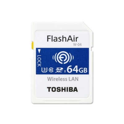 TOSHIBA 64G FlashAir SDXC U3 Wifi無線傳輸記憶卡 W-04