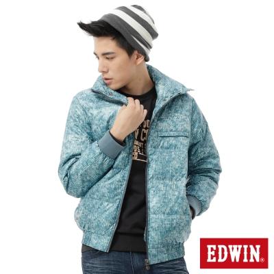 EDWIN運動達人毛線印花羽絨外套-男款-灰藍