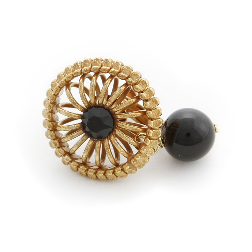 Luce Costante Ronde系列黑瑪瑙耳環(針式/耳扣式) @ Y!購物