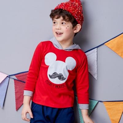 Disney米奇系列翹鬍子連帽上衣共2色