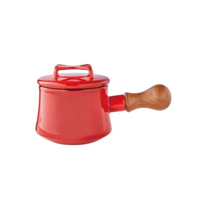 DANSK-琺瑯單耳燉煮鍋13cm-紅色