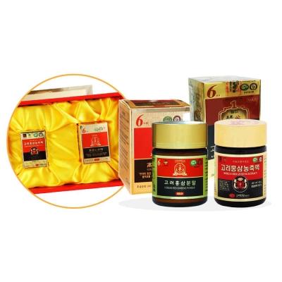 金蔘 高麗紅蔘精(50gx1罐)+紅蔘粉(60gx1罐)(伴手禮盒組)