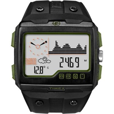 TIMEX WS4戶外多功能電子錶-綠/50mm