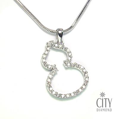 City Diamond『晶鑽葫蘆』張曼玉款 K金項鍊