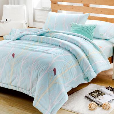 Saint Rose  靈動森林-藍  加大木漿纖維 床包涼被四件組