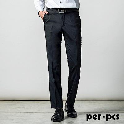 per-pcs 商務質男品味毛料平面西裝褲_黑色(717125)