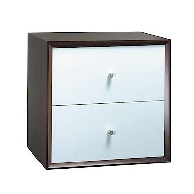 品家居 格吉1.2尺二抽收納櫃(三色可選)-36x36x30cm免組