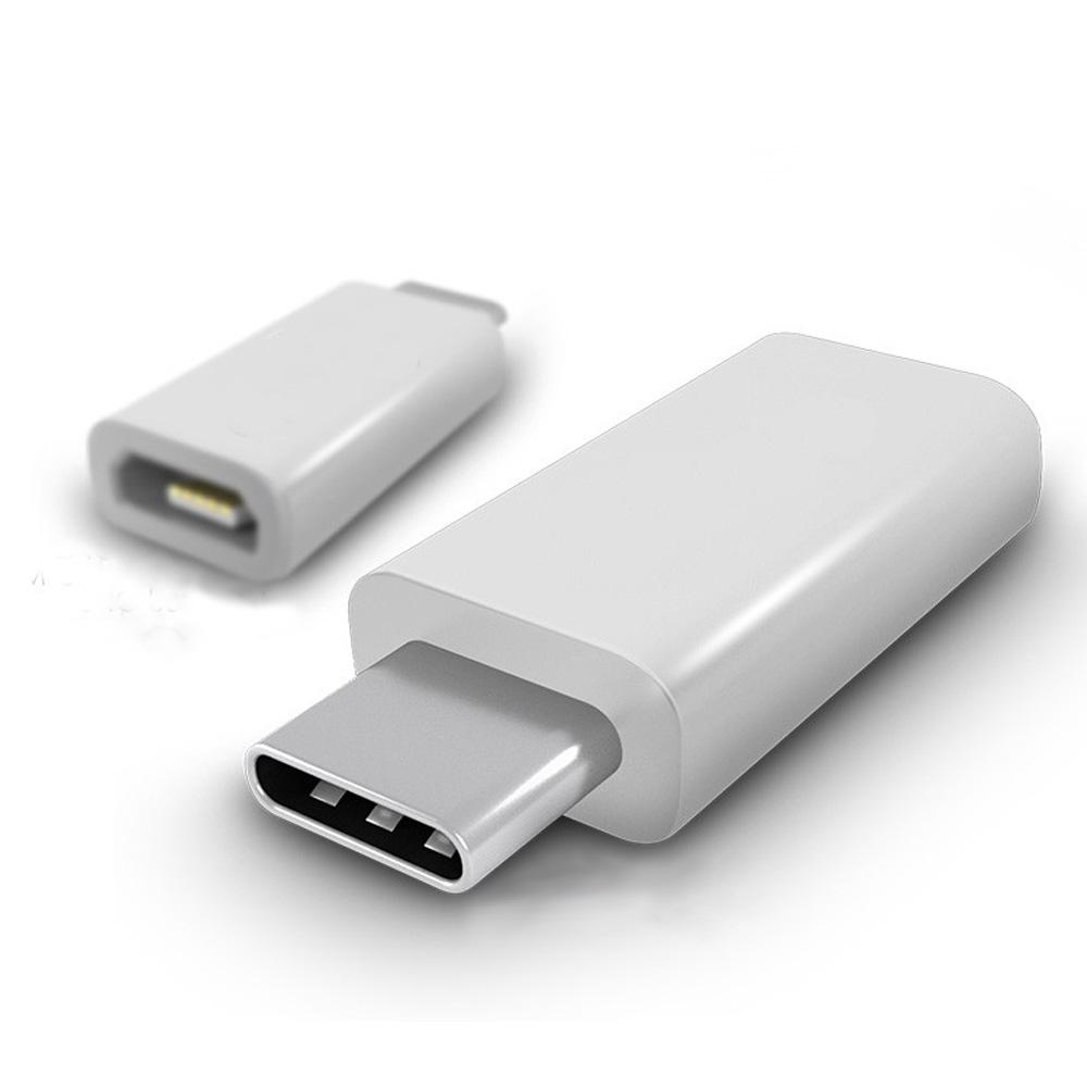 Micro USB(母)轉Type-C(公)轉接頭