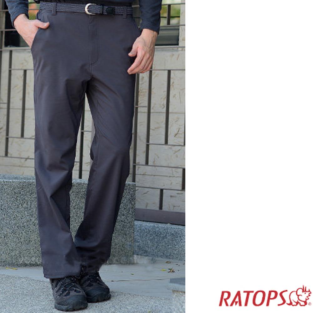 【瑞多仕】男彈性刷毛抗UV保暖長褲_DA3644 暗鐵灰色 V1