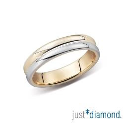 Just Diamond浪漫序曲 18K雙色金男女對戒- 女戒