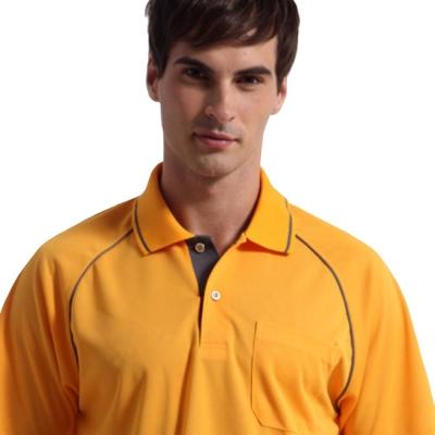 【Sunrise】88112明媚亮橘★短袖POLO男版襯衫