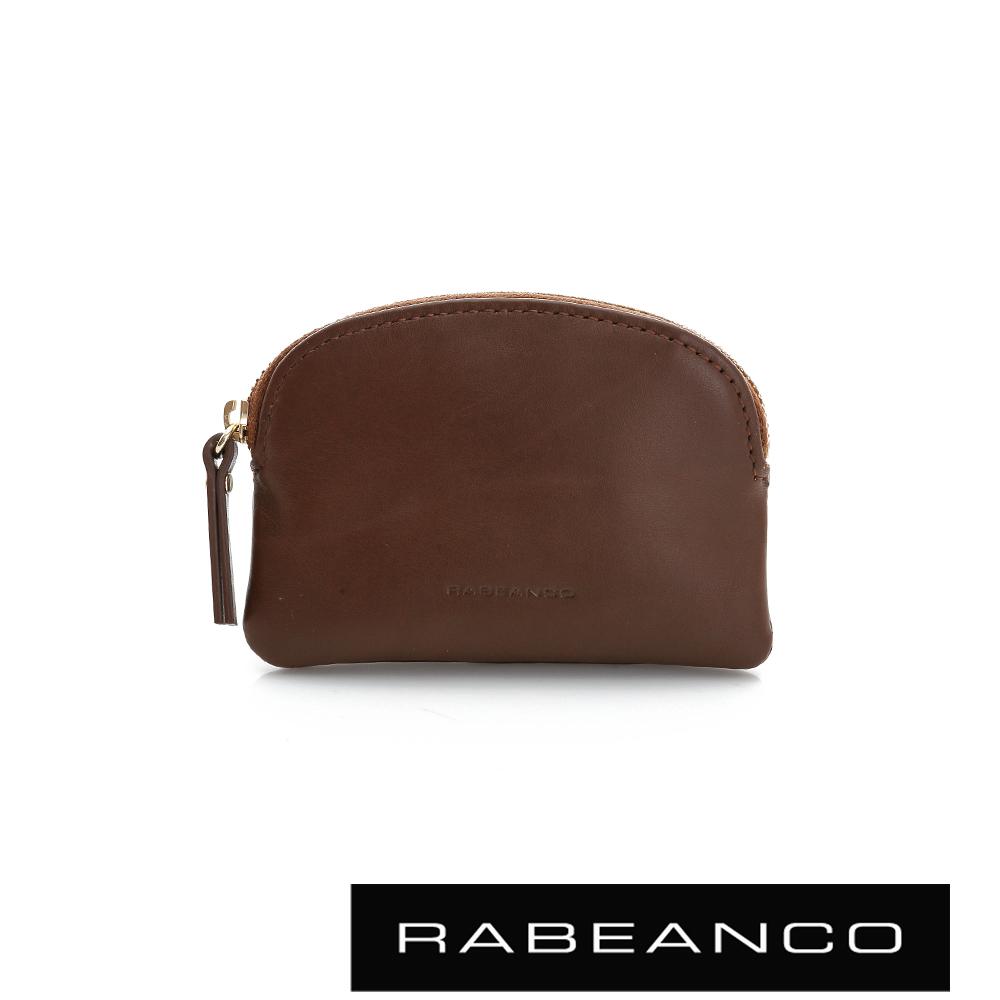 RABEANCO 迷色彩牛皮系列拉鍊零錢包  咖