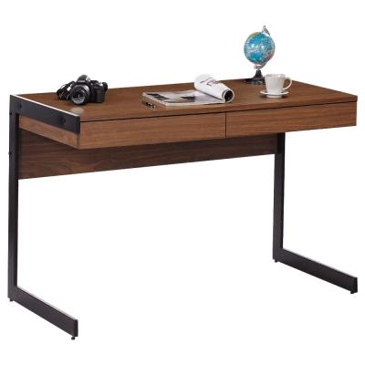 居家生活 歐納斯4尺胡桃二抽書桌