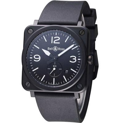 Bell & Ross 經典時尚飛行腕錶-黑/39mm