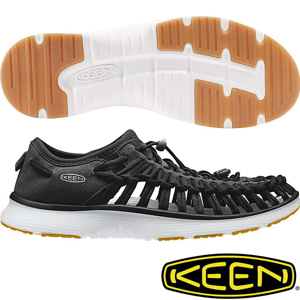 KEEN 男戶外護趾涼鞋Uneek O2-1017050黑色