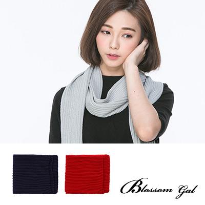 Blossom Gal 暖冬好感系素色鬆緊長圍巾(共6色)