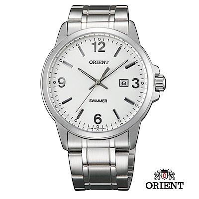 ORIENT 東方錶 OLD SCHOOL系列 復古風石英錶 鋼帶款 白色- 37 . 0 mm